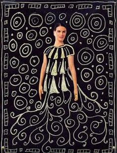 Klimt . The first step is to give the students black construction paper, magazines with lots of people in them, scissors and a glue stick. Instruct the students to look for a person in the magazine that has exposed arms. They are to cut out the head and arms as three separate pieces.