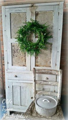 Farmhouse Primitive Cupboard