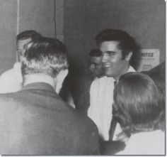 Elvis at press conference at Multnomah Athletic Club - Sept. 2, 1957  | The off-stage Presley answered the countless questions fired at him during the interview - a few of them sharply barbed-with poise and good humor. Concerning Anita Wood, the glamor-girl whose name is romantically linked with his. 'There's nothin' serious. We're more than friends, but nothin' serious'. - See more at: http://www.elvispresleymusic.com.au/pictures/1957_september_2_portland.html#sthash.mTCI4grD.dpuf