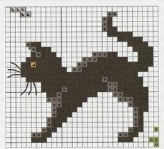 Kuvatulokset haulle Knitting Charts or Graphs cat paws Crochet Cross, Filet Crochet, Knitting Charts, Knitting Stitches, Cross Stitch Designs, Cross Stitch Patterns, Cross Stitching, Cross Stitch Embroidery, Cross Stitch Animals