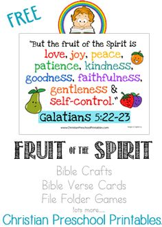 Fruits of the Spirit Bible Verse Resources