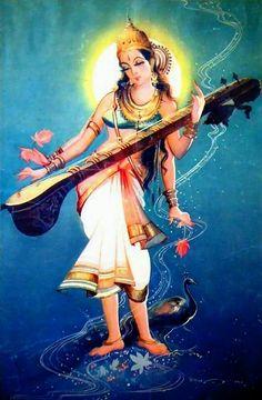 Saraswati Goddess, Kali Goddess, Mother Goddess, Goddess Art, Buddha Life, Buddha Art, Lord Shiva Hd Images, Hindu Deities, Hinduism