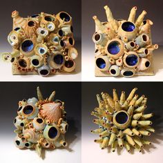 Ceramic Sculptures and Vessels made one at time Clay Tiles, Ceramic Clay, Coral Reef Craft, Colorful Fish, Tropical Fish, Ocean Projects, Sea Sculpture, Coral Art, Art Corner