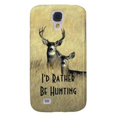 Masculine Mule Deer White Tail Deer Buck and Doe Galaxy S4 case. Perfect for the hunter in your life or wildlife lover