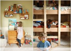 built in bunk bed   from Lorajean's Magazine