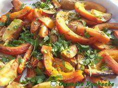 Gebackener Kürbis mit Möhren und Kartoffeln