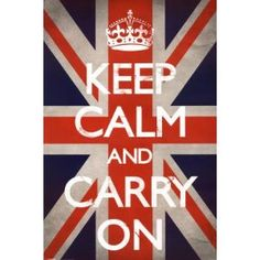 Amazon.com: Keep Calm and Carry On (Motivational, Union Jack Flag) Art Poster Print: Home