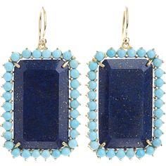Irene Neuwirth Lapis & Turquoise Earrings