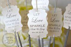 Sparkler Tags, Wedding Sparkler Tags, Sparkler Holders, Sparkler Sleeves, Let Love Sparkle, Wedding Favors - Set of 100