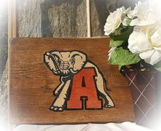 PLEASE NOTE:  THIS ITEM CAN BE ORDERED BUT MAY NOT ARRIVE UNTIL AFTER CHRISTMAS!  SORRY FOR THE INCONVIENCE!   This sign is made out of Hickory wood.  It measures approxima... #fancave #mancave #craftsbygaddis #handmade #handpainted #woodsign #woodensign #homedecor #alabama #gift ➡️ http://etsy.me/2gEwYSU