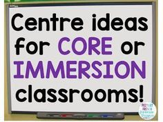 Centre ideas for FSL classrooms! Can be used in French Immersion or Core French . - Centre ideas for FSL classrooms! Can be used in French Immersion or Core French classrooms! Working on oral communication, reading, and writing! French Flashcards, Sight Word Flashcards, French Worksheets, Spanish Teaching Resources, French Resources, Teaching Ideas, Spanish Activities, School Resources, Classroom Resources