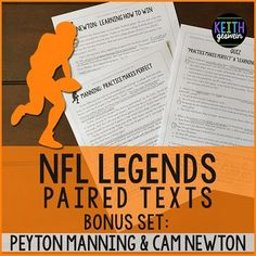 FREE paired texts! Your students will love learning more about the starting quarterbacks in the 2016 Super Bowl! A quiz is included.