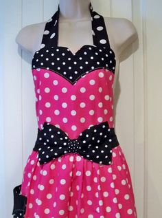 Womens Legends Minnie Mouse  Apron  Red or Pink. $27.00, via Etsy. For me ;)