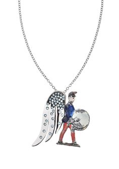 Vintage toy soldier (early 1900's) with a wing in white gold and diamonds. @francescavillajewelry - Joie De Vivre collection @francescavillajewelry - Joie De Vivre collection