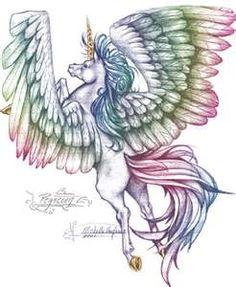 A rainbow unisus/pegacorn