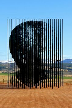 Nelson Mandela Sculpture by Marco Cianfanelli - it  stands at the site of Mandela's capture in 1962.