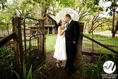 wedding day - photo - inspiration - ideas - bride and groom - barn - farmhouse - rustic - calfornia - ranch - rainy day - umbrella - rain - garden - boots - photography by Abbie Warnock