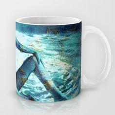 Lady in blue Mug by Annabellerockz - $15.00