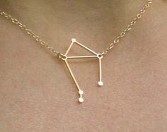 Libra Constellation Necklace - Zodiac Constellation -  Delicate 14k Gold Filled or Sterling Silver