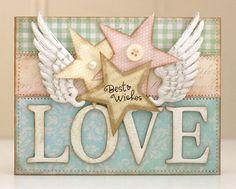 Card by Bibbis Dillerier - so pretty! Love her work!