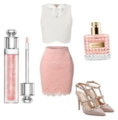 Untitled #1 by thinkk-1 on Polyvore featuring polyvore, fashion, style, Lipsy, LE3NO, Valentino, Christian Dior and clothing