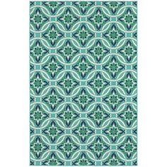 $699.00 Meridian Blue/Green Floral Area Rug
