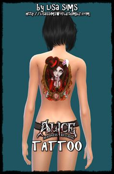 Sims 4 CC's - The Best: Alice Tattoo by My Sims 4 World