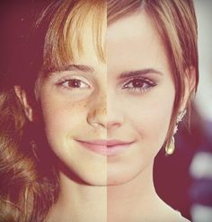 Then and now Emma Watson. Interesting photo idea!