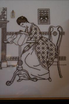 Blackwork. The Embroideress.