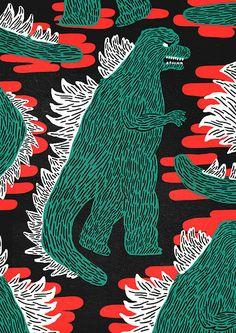 Godzilla hype. Thomas Howes, flickr (and etsy seller)