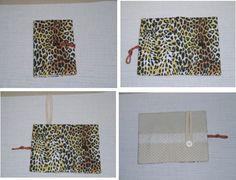 Porta celular estampa oncinha.. Fabric iPhone case