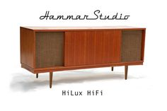 HiLux hifi Stereo Console  Powered by Monitor Audio Airstream A100 with Wi-Fi and Apple AirPlay or SONOS Connect:Amp.  Built in 2-way stereo