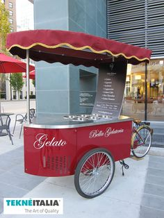 "Tekneitalia - Gelateria ""Bella Gelateria"" - by #tekneitalia made in italy www.tekneitalia.com - Vancouver, Canada - Ice cream cart model: Procopio #gelatocart"