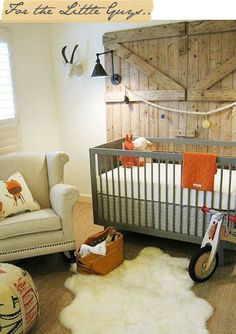 Beautiful combination of contemporary and rustic | 10 Baby Boy Nurseries - Tinyme Blog