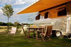 Belrepayre #Airstream #Retro Trailer Park, located in #Europe, France