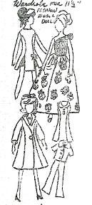 Free vintage sewing patterns for Barbie sized dolls