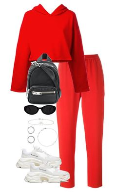 """""""Untitled #4896"""" by theeuropeancloset on Polyvore featuring STELLA McCARTNEY, Golden Goose, Balenciaga, Alexander Wang, Jennifer Meyer Jewelry and Astley Clarke #teenageoutfits"""