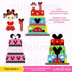 Mickey Mouse Birthday Party Clipart Mickey Mouse by Cutesiness