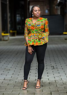 Ankara peplum top, african print top, wrap top by MADKollection 2020 fashion – Fashion Magazin styles African Fashion Ankara, African Print Fashion, Latest African Fashion Dresses, African Wear, African Attire, Ankara Tops, Ankara Blouse, Ankara Styles, African Dresses For Women