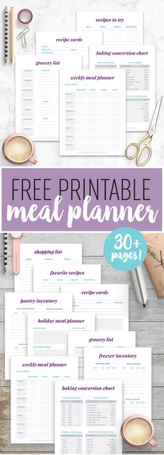 Free Printable Meal Planner - Get your kitchen and meals organized with our wonderful free printable meal planner available for instant download!