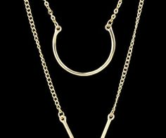 Gold Double Layels Chain Necklace. spenditonthis.com
