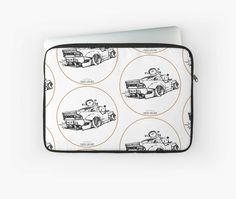 'Crazy Car Art Laptop Sleeve by ozizo Weird Cars, Car Illustration, Kustom Kulture, Laptop Sleeves, Drawings, Artwork, Stuff To Buy, Work Of Art, Auguste Rodin Artwork