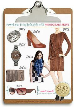 Wood Grain  faux bois Print-Fashion-Products by StarletStarlet, via Flickr