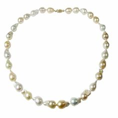 Shop for Pearl Lustre 14k Gold and Genuine Baroque Pearl Necklace. Get free delivery at Overstock.com - Your Online Jewelry Destination! Get 5% in rewards with Club O!