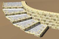 How to build stairs using retaining wall blocks
