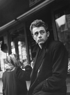 "babeimgonnaleaveu: "" James Dean photographed by Roy Schatt, NYC, 1954. """