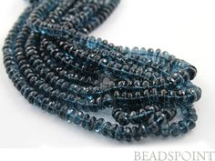Natural NO TREATMENT London Blue Topaz Micro Faceted by Beadspoint, $377.99