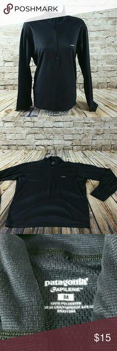 Womens Long Sleeve Quarter Zip Up Size Medium Patagonia Black Long Sleeve Quarter Zip Up Top Patagonia Tops Tees - Long Sleeve