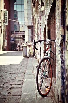 Need to get myself a bike, a nice one! Melbourne Victoria, Victoria Australia, Street Art Photography, Landscape Photography, Melbourne Australia, Australia Travel, Melbourne Laneways, Cultural Capital, Melbourne House