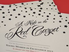 Young Women's In Excellence Invitation Red Carpet Theme